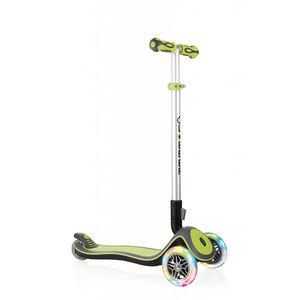 Globber Elite Deluxe Roller mit Batterielosen LED Rollen Kinder green green