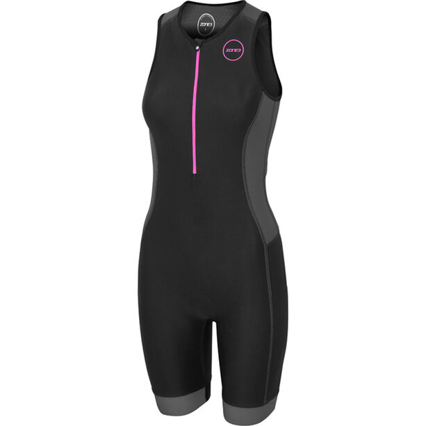 Zone3 Aquaflo Plus Trisuit Damen black/grey/neon pink