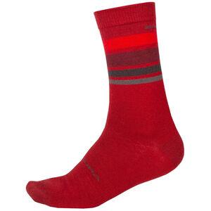 Endura BaaBaa Merino Stripe Socken Herren red red