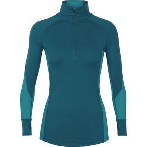 Icebreaker 260 Zone LS Half Zip Shirt Women kingfisher-arctic teal-prism bei fahrrad.de Online