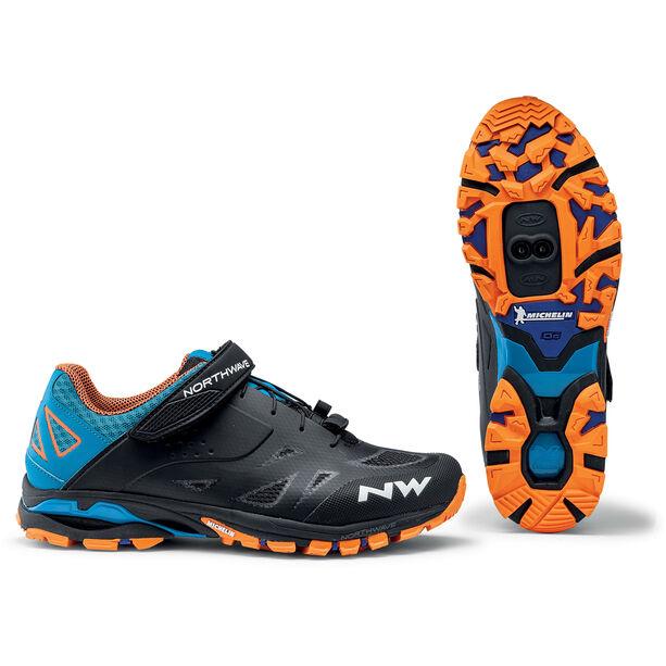 Northwave Spider 2 Schuhe Herren black/blue/orange