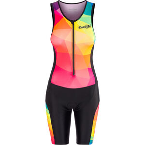 Dare2Tri Limited Funky Sleeveless Trisuit Damen black black