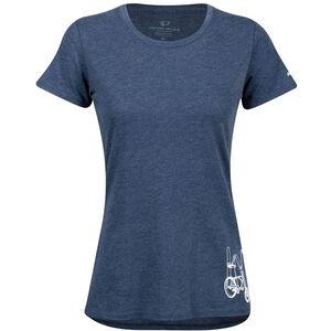 PEARL iZUMi Graphic Kurzarm T-Shirt Damen heather dusk happy pace heather dusk happy pace