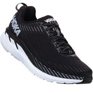 Hoka One One Clifton 5 Wide Running Shoes Herren black/white black/white