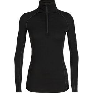 Icebreaker 150 Zone LS Half Zip Shirt Women Black/Mineral