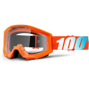 100% Strata Goggle orange/clear