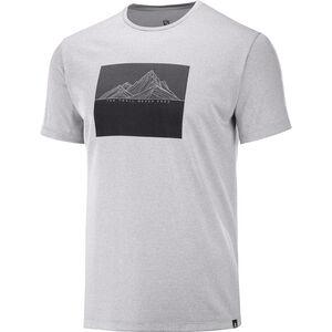 Salomon Agile Graphic T-Shirt Herren alloy/heather alloy/heather