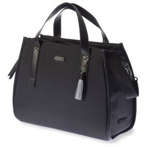 Basil Noir Business Gepäckträgertasche 17l midnight black midnight black