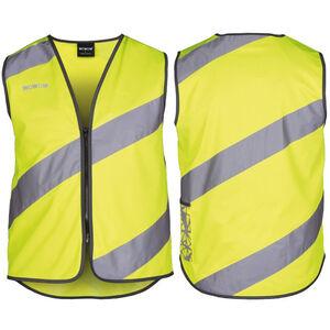 Wowow Roadie Sicherheitsweste mit Reißverschluss gelb mit reflexstreifen gelb mit reflexstreifen