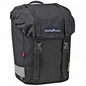 KlickFix Classic Lowrider Gepäckträgertasche schwarz schwarz