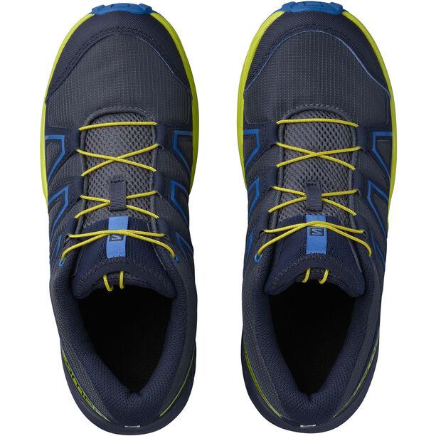 Salomon Speedcross Schuhe Kinder ombre blue/sulphur spring/nautical blue