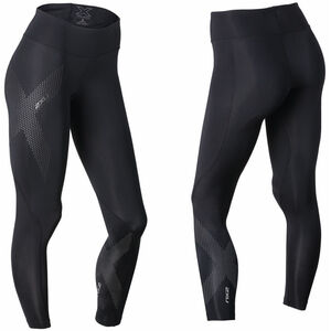 2XU Mid-Rise Compression Tights long Damen black/dotted reflective logo black/dotted reflective logo