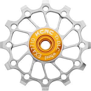 KCNC Jockey Wheel Titan 12 Zähne narrow/wide full ceramic bearing silver silver