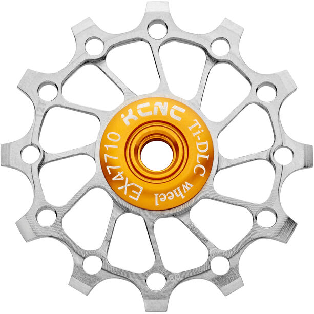 KCNC Jockey Wheel Titan 12 Zähne narrow/wide full ceramic bearing silver