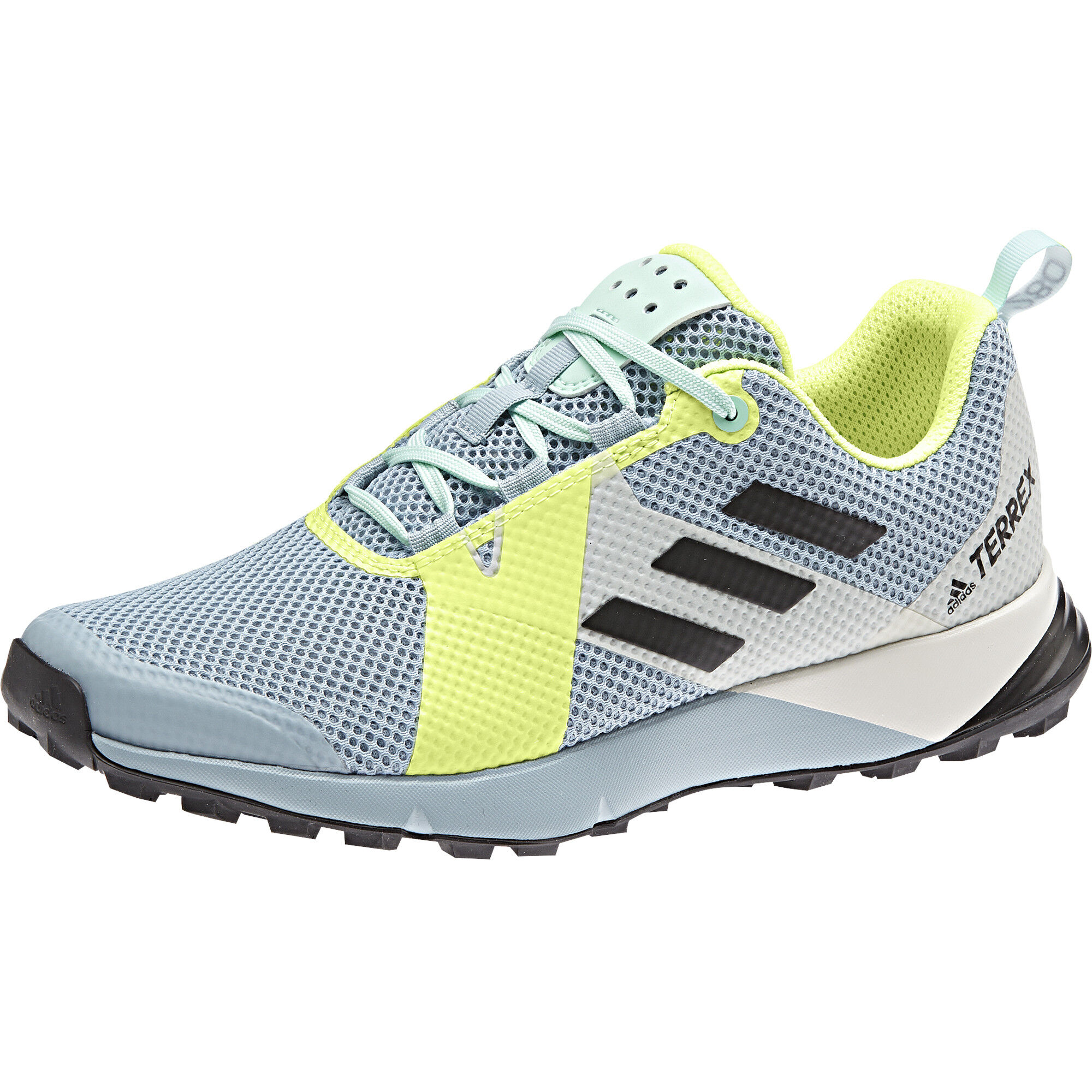 adidas Women's Terrex Two Trailrunningschuhe Ash Grey Core Black Hi Res Yellow | 4 (UK)