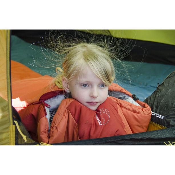 Nordisk Knuth Sleeping Bag 160-190cm Jugend burnt red
