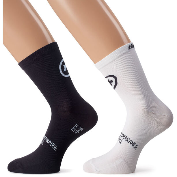 assos tiburuSocks_Evo8 Twin Pack holy white