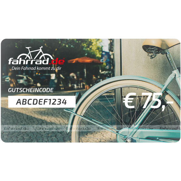 fahrrad.de Geschenkgutschein 75 €