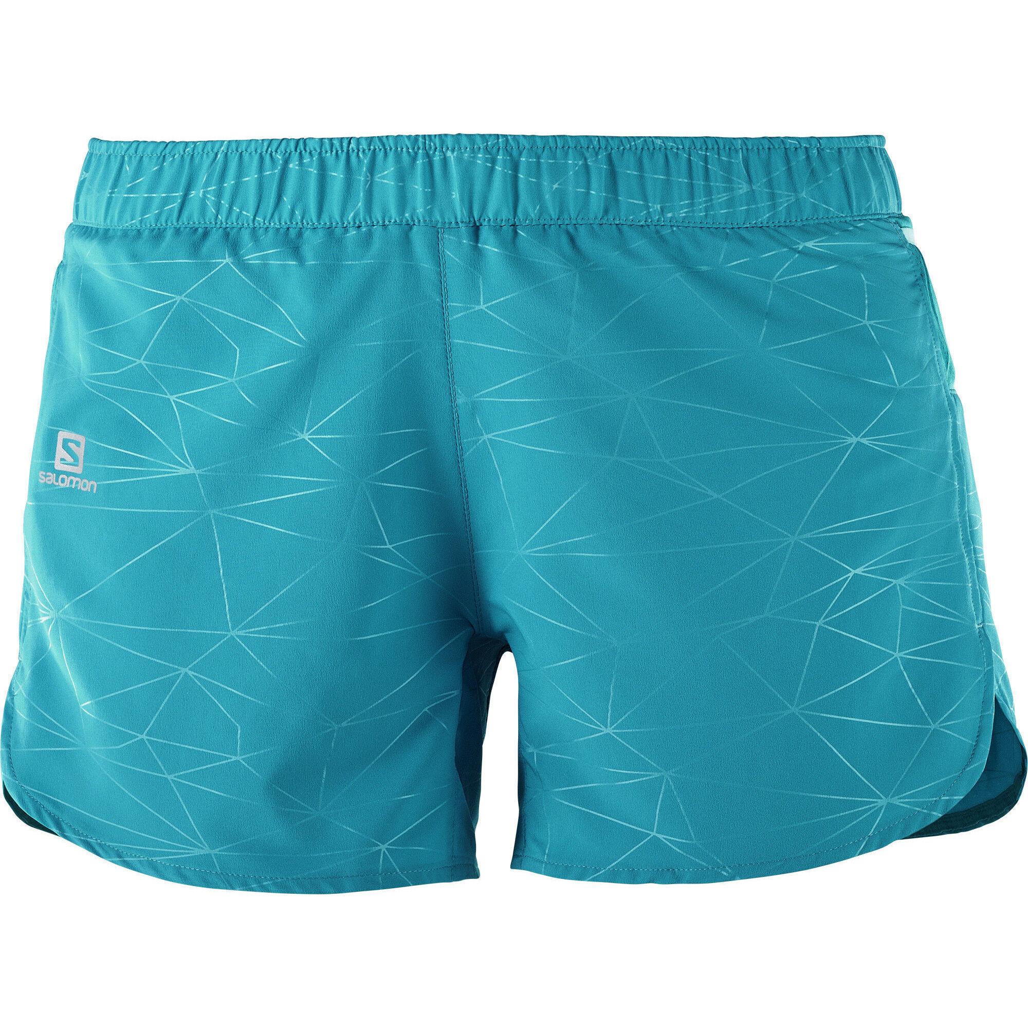 Salomon Trail Runner Shorts Women enamel blue