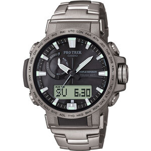 CASIO PRO TREK PRW-60T-7AER Watch Men silver/silver/black silver/silver/black