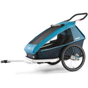 Croozer Kid Plus For 2 Kinderanhänger Kinder ozeanblau ozeanblau