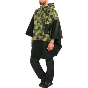 AGU Urban Outdoor 2,5 Layer Poncho Unisex black/camo print