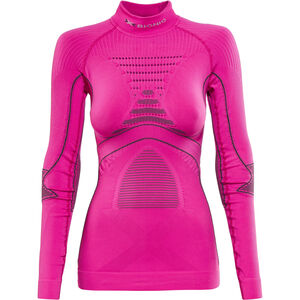 X-Bionic Accumulator Evo LS Turtle Neck Top Women Pink/Charcoal Pink/Charcoal