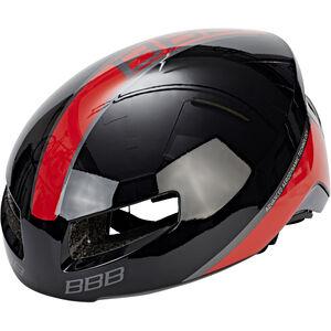 BBB Tithon BHE-08 Helmet glossy schwarz/rot glossy schwarz/rot