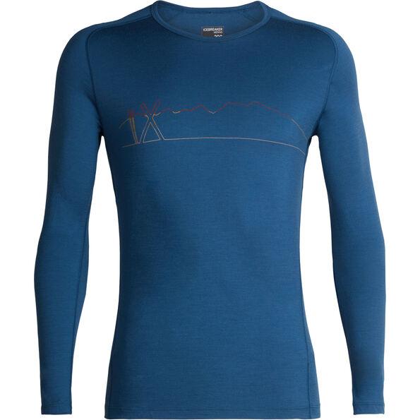 Icebreaker 200 Oasis Deluxe Single Line Ski Raglan LS Crew Shirt