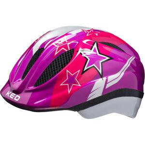 KED Meggy Helmet violet stars