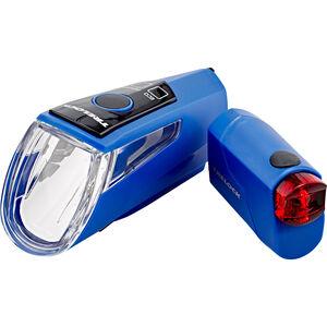 Trelock LS 460 I-GO POWER+LS 720 Akkubeleuchtung Set blau blau