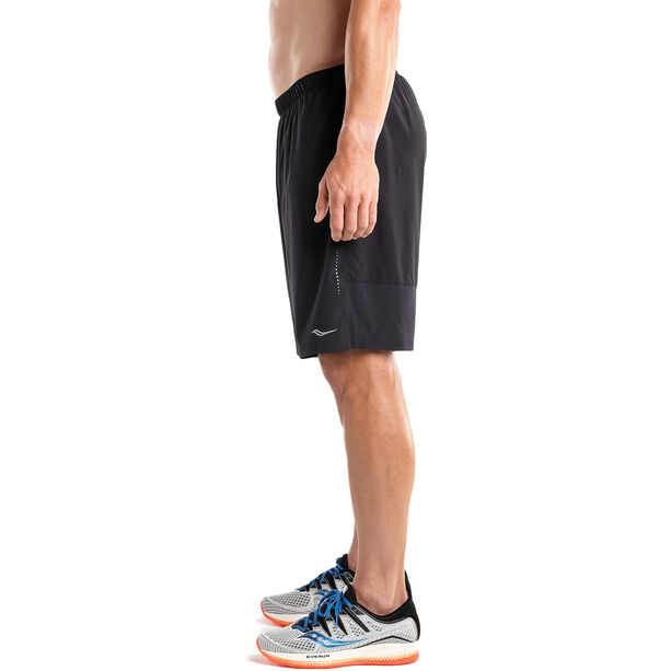 "saucony Interval 9"" 2-in-1 Shorts Herren black"