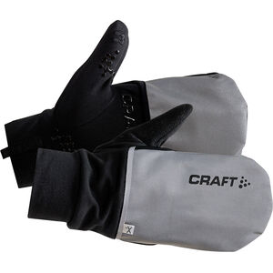 Craft Hybrid Weather Gloves silver/black silver/black