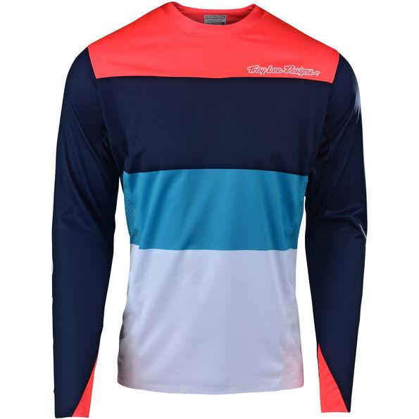 Troy Lee Designs Sprint Elite LS Jersey Herren beta/navy/orange