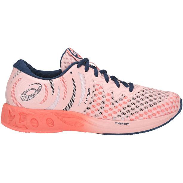 asics Noosa FF 2 Shoes Damen seashell pink/dark blue/begoni