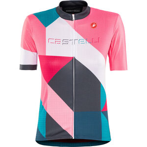 Castelli Ventata FZ Jersey Damen multicolor/tourquoise/green multicolor/tourquoise/green