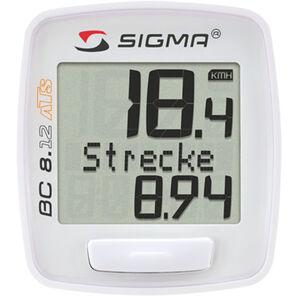SIGMA SPORT BC 8.12 ATS Fahrradcomputer  kabellos weiß bei fahrrad.de Online