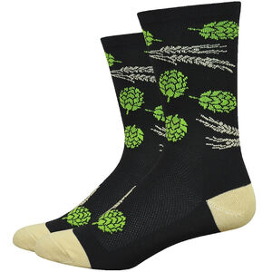 "DeFeet Aireator 6"" Socks hops and barley/black/gold hops and barley/black/gold"