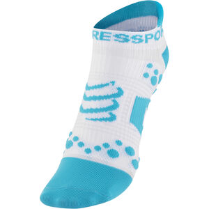 Compressport Racing V2 Run Low Socks white/blue white/blue