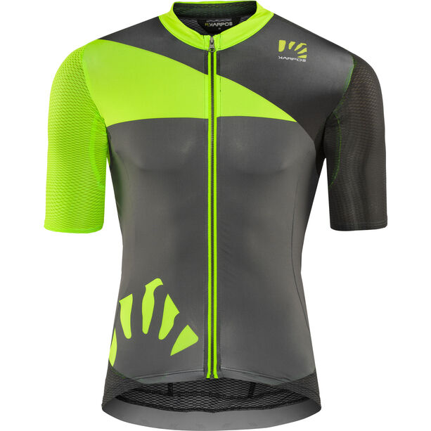 Karpos Verve Jersey Herren green fluo/dark grey