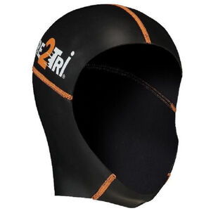 Dare2Tri Neoprene Swimcap black/orange black/orange