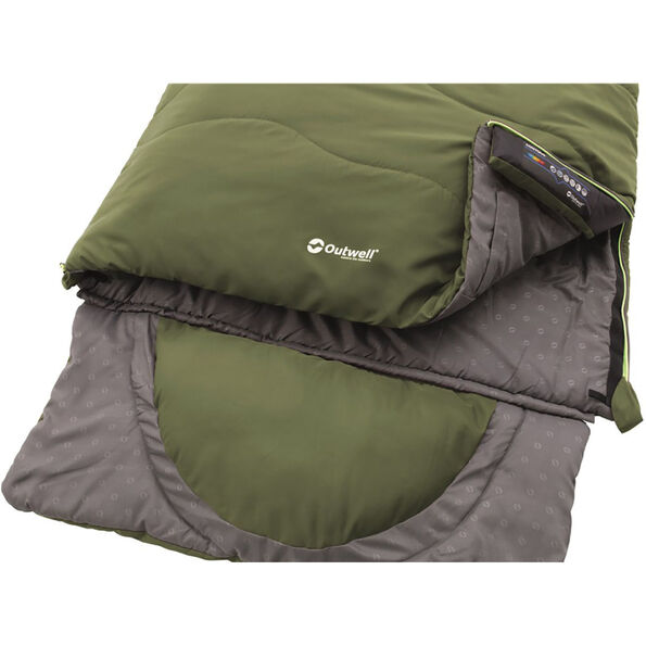 Outwell Contour Supreme Sleeping Bag oliv