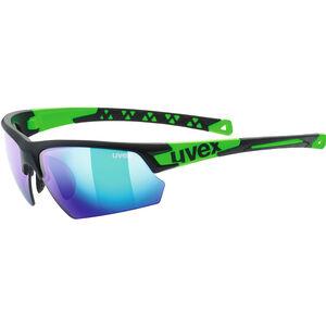 UVEX Sportstyle 224 Sportglasses black mat green/green black mat green/green