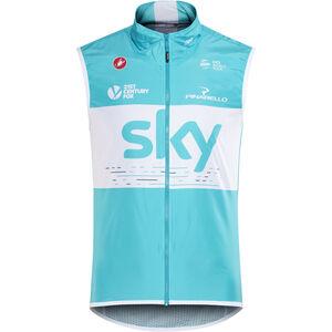 Castelli Team Sky Pro Light Wind/Rain Vest Men sky blue