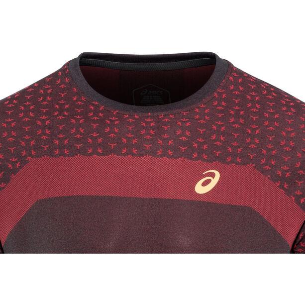 asics Seamless SS Texture Shirt Mugen Pack Herren performance black performance black
