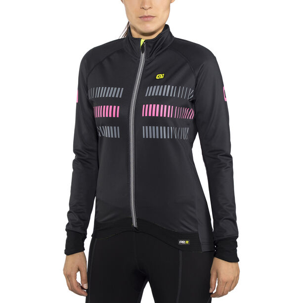 Alé Cycling Graphics PRR Strada 2.0 Jacket Damen black-fluo pink black-fluo pink