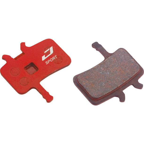 Jagwire Sport Semi-Metallic Bremsbeläge für Avid BB7 / Alle Juicy Modelle 1 Paar rot