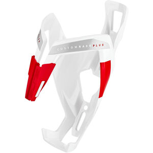 Elite Custom Race Plus Flaschenhalter weiß glänzend/rote grafik