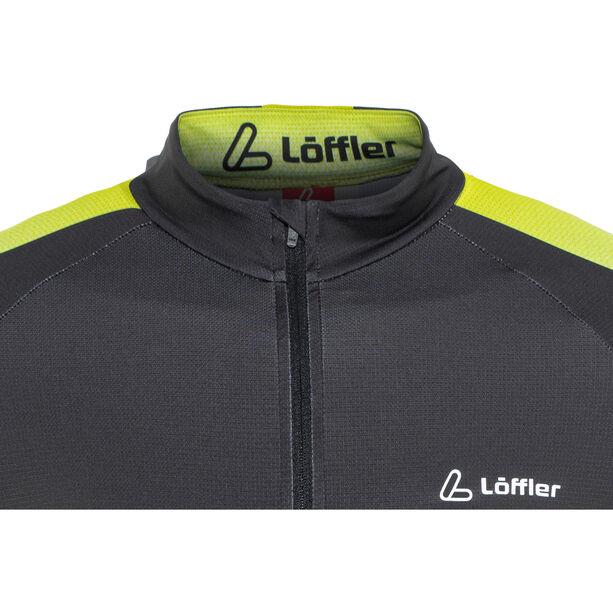 Löffler Hotbond Reflective Bike Jersey Half-Zip Herren schwarz/zitrone