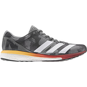 adidas Adizero Boston 8 Low-Cut Schuhe Herren grey four/footwear white/flash orange grey four/footwear white/flash orange